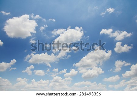 Sky and Cloudscape Background - stock photo