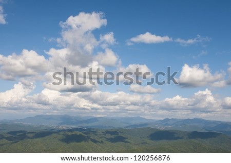 Sky and Mountains - stock photo
