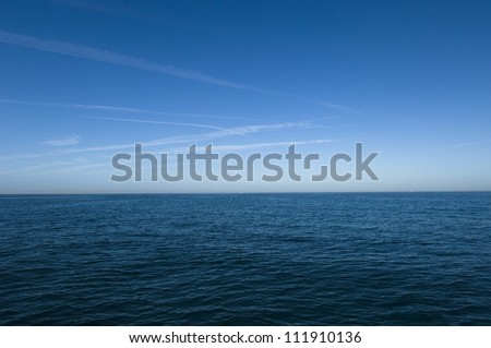 Sky and ocean - stock photo