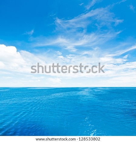 Sky and sea. Tropical quad composition - stock photo