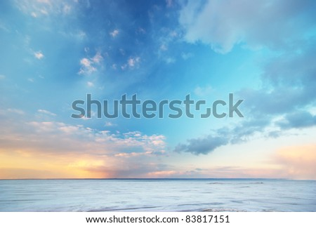 Sky background. - stock photo