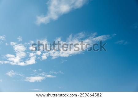 sky background with a clouds - stock photo