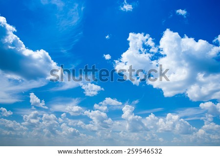sky background with a tiny clouds - stock photo