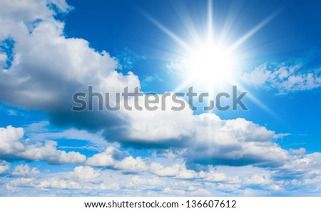 Sky Beauty Cloudscape Divine - stock photo