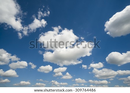 Sky clouds - stock photo