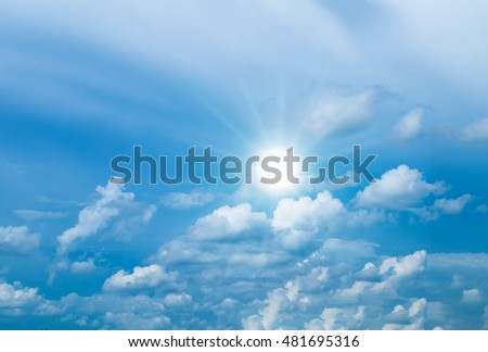 sky clouds and sun