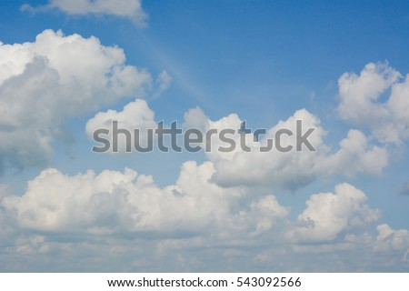 Sky clouds blue background.
