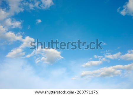 Sky clouds.Sky background with fluffy white clouds - stock photo