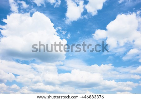Sky clouds with blue sky day