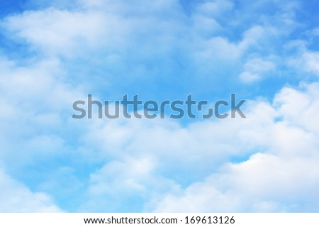 Sky cloudy white - stock photo
