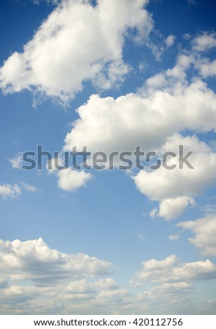 Sky daylight. Natural sky composition. Element of design. - stock photo