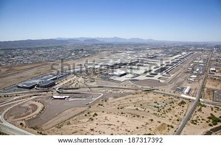 Sky Harbor International Airport in Phoenix, Arizona - stock photo