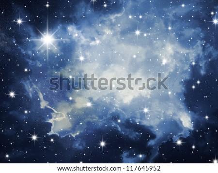 Sky in stars - stock photo