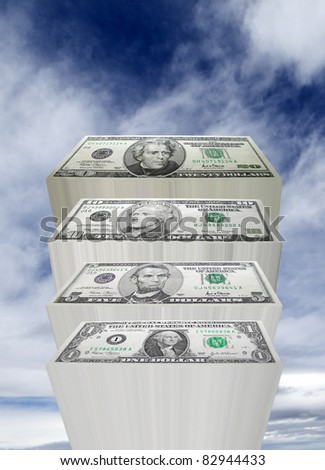 Sky is the Limit - stock photo