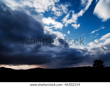 sky just after the storm - stock photo