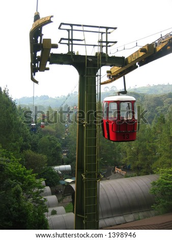 sky lift jakarta zoo indonesia - stock photo