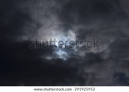 sky,moonlight - stock photo