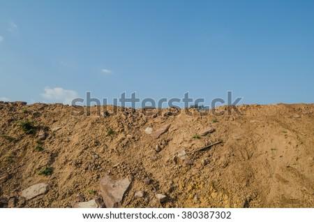 Sky mound - stock photo