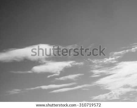 sky nature summer black and white background  - stock photo