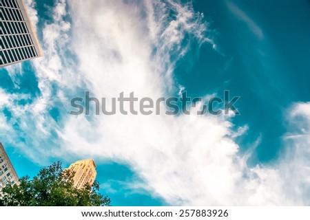 sky, new york - stock photo