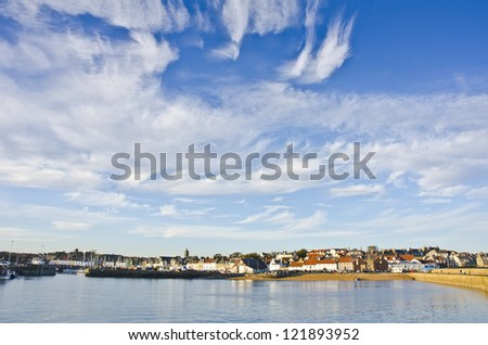 Sky over Anstruther, Fife, Scotland - stock photo