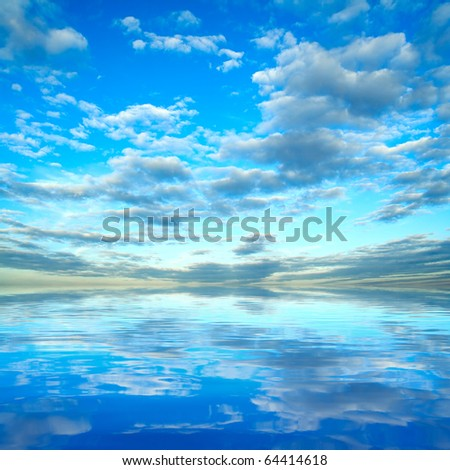 Sky over sea - stock photo