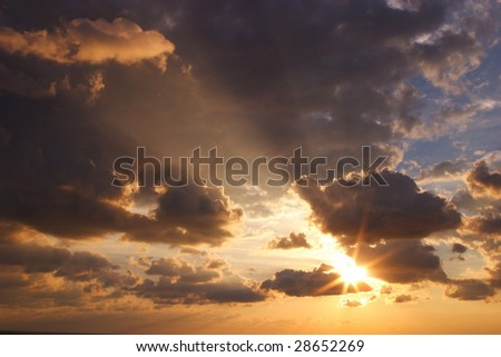 sky over the sea - stock photo