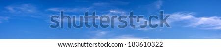 sky panorama - stock photo