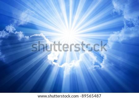 Sky Sun Cloud - stock photo