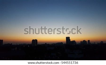 Sky sunrise ,Bangkok sunrise