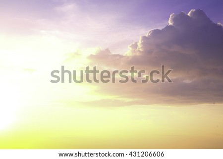 sky sunset blur Background. Sunlight Defocused Tomorrow Vintage Style Soft Zen Glow Clear Retro Aqua Relax Shine Light Clean Pastel Fresh Bless Smooth Orange Horizon Air Park Glamour hope vivid dreams - stock photo
