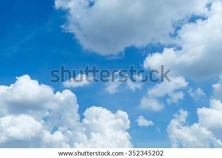 Sky, The blue sky - stock photo