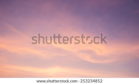 Sky, The Twilight Sky - stock photo