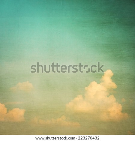 Sky vintage and texture - stock photo