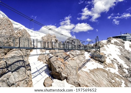 Sky Walk in Dachstein, Austria - stock photo