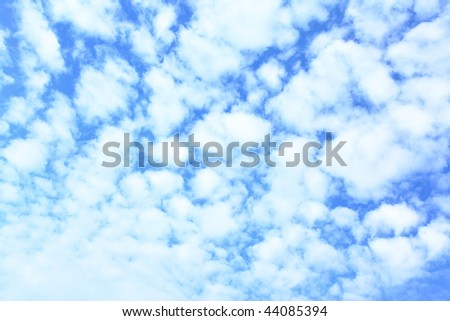 Sky with a lot clouds, may be used as background - stock photo