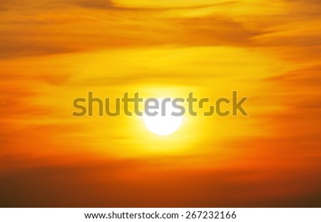 Sky with cloud at sunset background - stock photo
