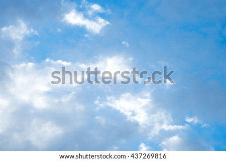 Sky with clouds. used for background or material  design.
