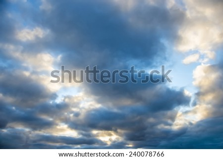 sky with dark clouds - stock photo