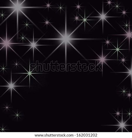 sky with glittering stars - stock photo