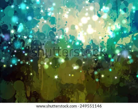 Sky with stars brush strokes background. Raster version - stock photo