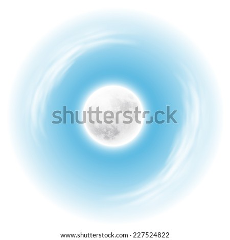 Sky with the moon. Spherical composition. - stock photo