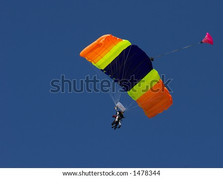 Skydiving - stock photo