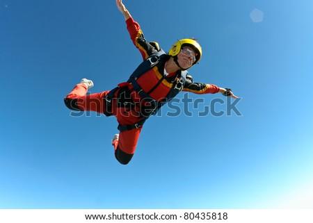 Skydiving photo - stock photo