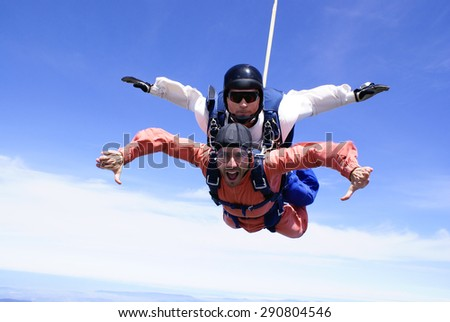 Skydiving Tandem Arms - stock photo