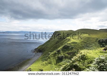 Skye island coastline - stock photo