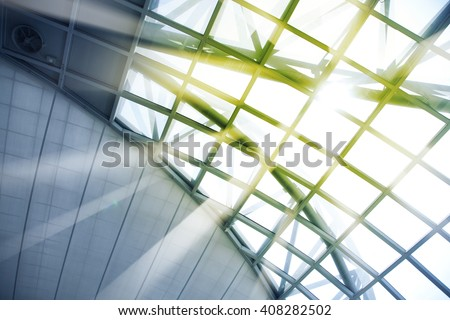 Skylight window - abstract architectural background - stock photo