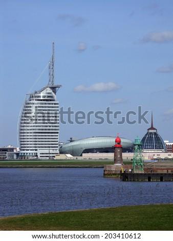 Skyline Bremerhaven, Germany - stock photo