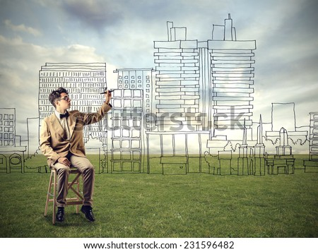 Skyline designer  - stock photo