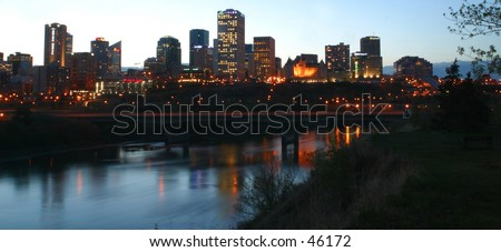 skyline Edmonton,Alberta,Canada - stock photo